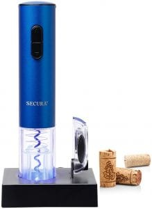 Secura Electric Wine Opener, with foil cutter