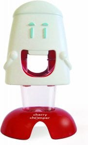 Talisman Designs Chomper Cherry Pitter, with built-in transparent pit container