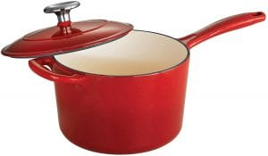 Tramontina 80131/060DS Enameled Cast Iron Covered Sauce Pan