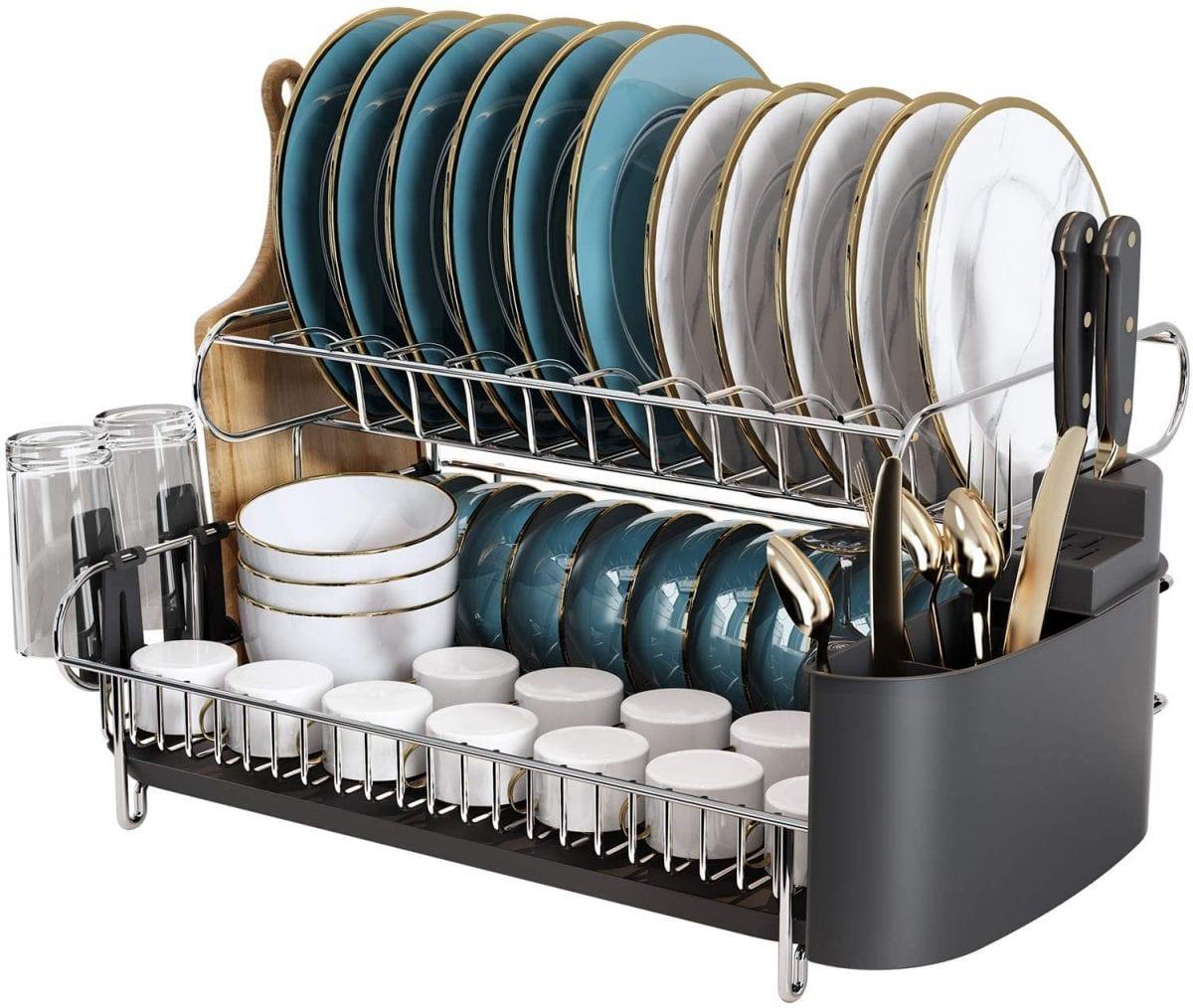 Boosiny 2-tier dish rack