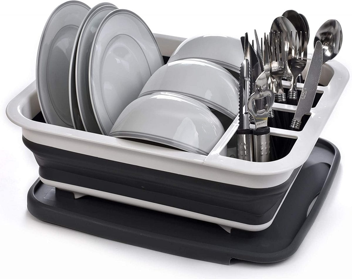 Masirs Pop Up and Collapse Dish Rack
