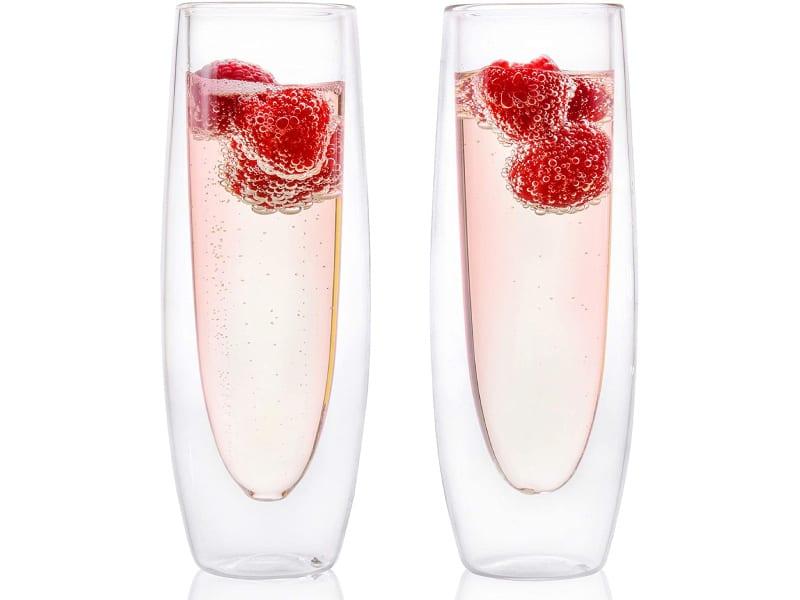 Eparé Glass Champagne Flutes