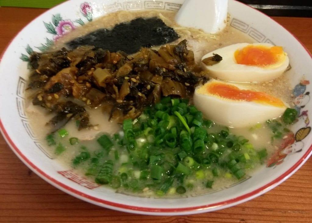 Karashi Takana ramen toppings