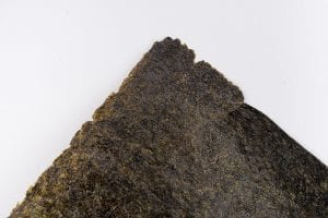 Piece of nori or dried seaweed