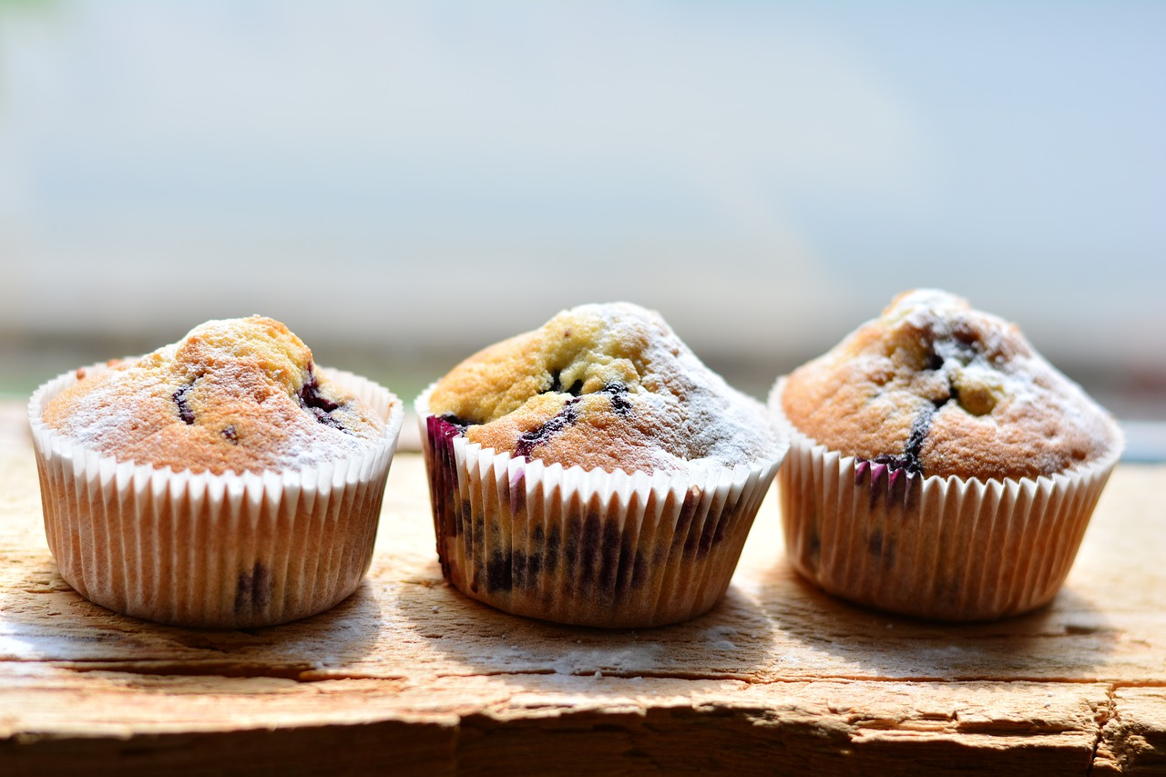 Bakery Style Lemon Blueberry Muffins Recipe