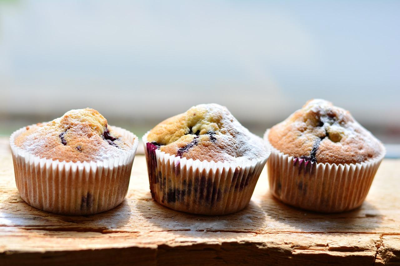 Bakery Style Lemon Blueberry Muffins Recipe