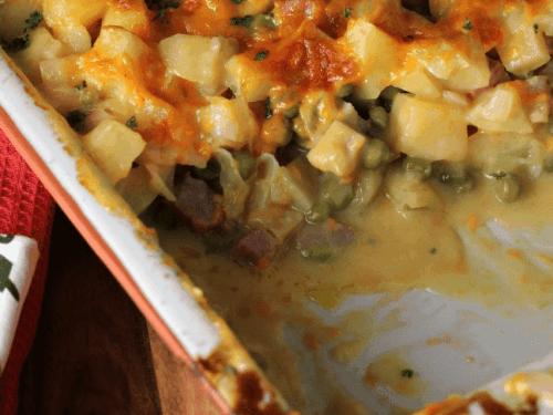 cheesy ham and potato casserole recipe