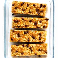 Chewy Peanut Butter Granola Bars Recipe