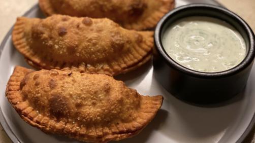 Empanada With Greek Yogurt Dipping Sauce Recipe