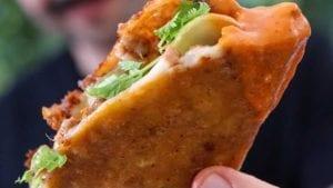 Crispy Chorizo & Cheese Taco-Quesadillas With Salsa Recipe