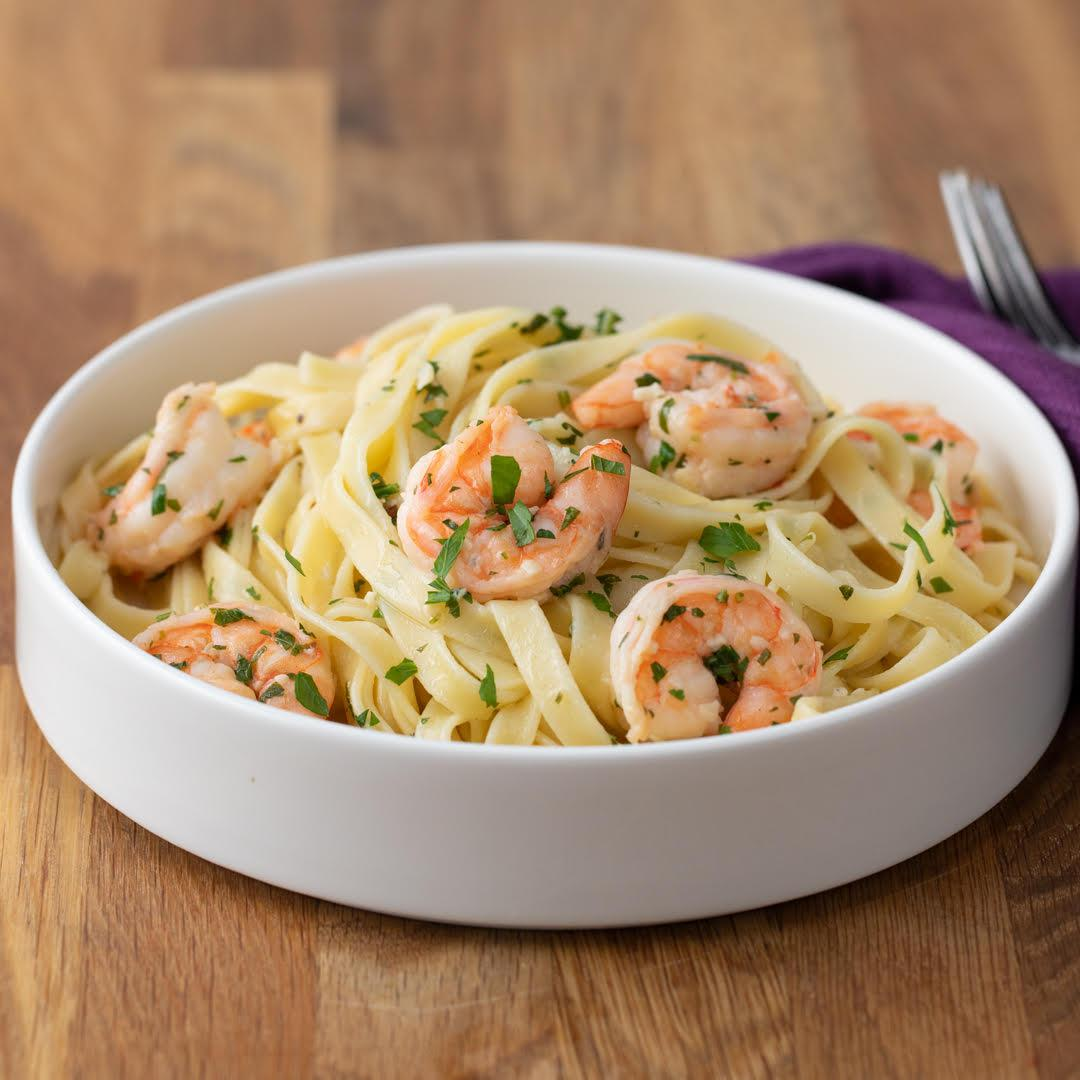 Garlic Butter Shrimp Fettuccine Recipe