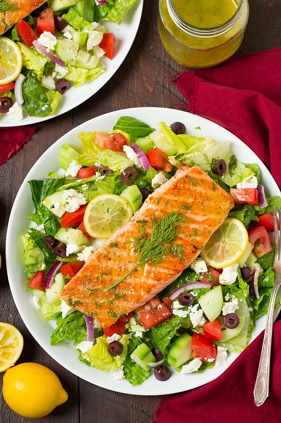 Greek Salmon Salad Recipe