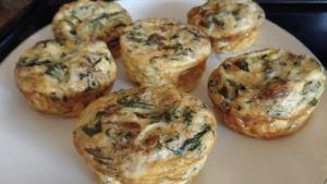 Mini Mushroom & Spinach Quiche Recipe