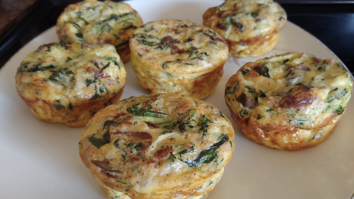 Mini Mushroom & Spinach Quiche Recipe