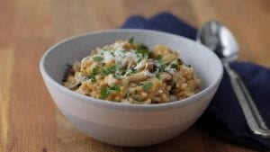 Mushroom And Leek Risotto Recipe