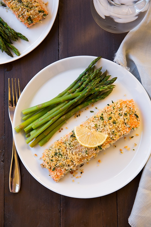 Panko Crusted Honey Mustard Salmon Recipe