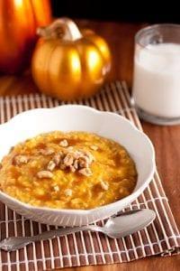 Pumpkin Pie Oatmeal with Caramel Sauce Recipe