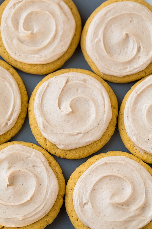 Pumpkin Sugar Cookies with Cinnamon Cream Cheese Frosting Recipe