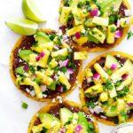10-minute pineapple black bean tostadas recipe