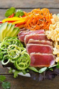 Ahi Tuna Salad with Sesame Ginger Dressing Recipe
