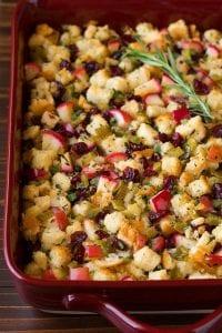 Apple Cranberry Rosemary Stuffing Recipe