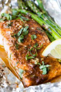 Asparagus Salmon Foil Packets Recipe