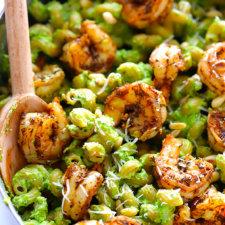 Asparagus-Spinach Pesto Pasta Recipe