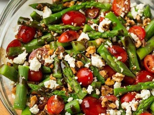 asparagus, tomato and feta salad with balsamic vinaigrette recipe