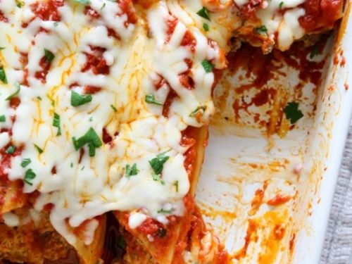 baked beef and cheese manicotti (cannelloni) recipe