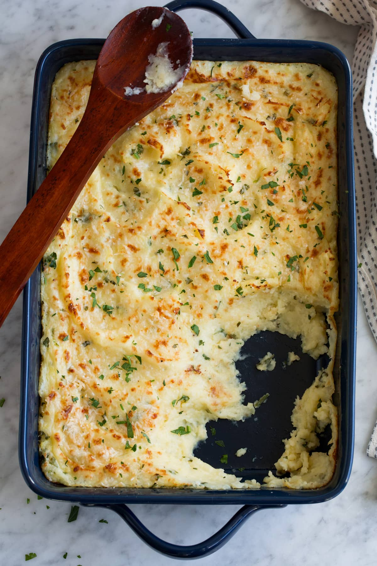 Baked Mashed Potatoes with Parmesan Recipe