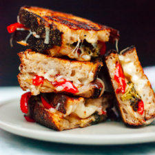 Roasted Broccoli Red Pepper Grilled Cheese Recipe
