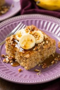 Banana Pecan Baked Oatmeal Recipe