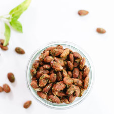 Basil Pesto Almonds Recipe