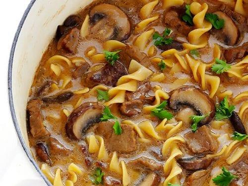 beef stroganoff soup recipe