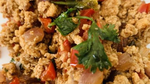 Bell Pepper Paneer Bhurji Recipe