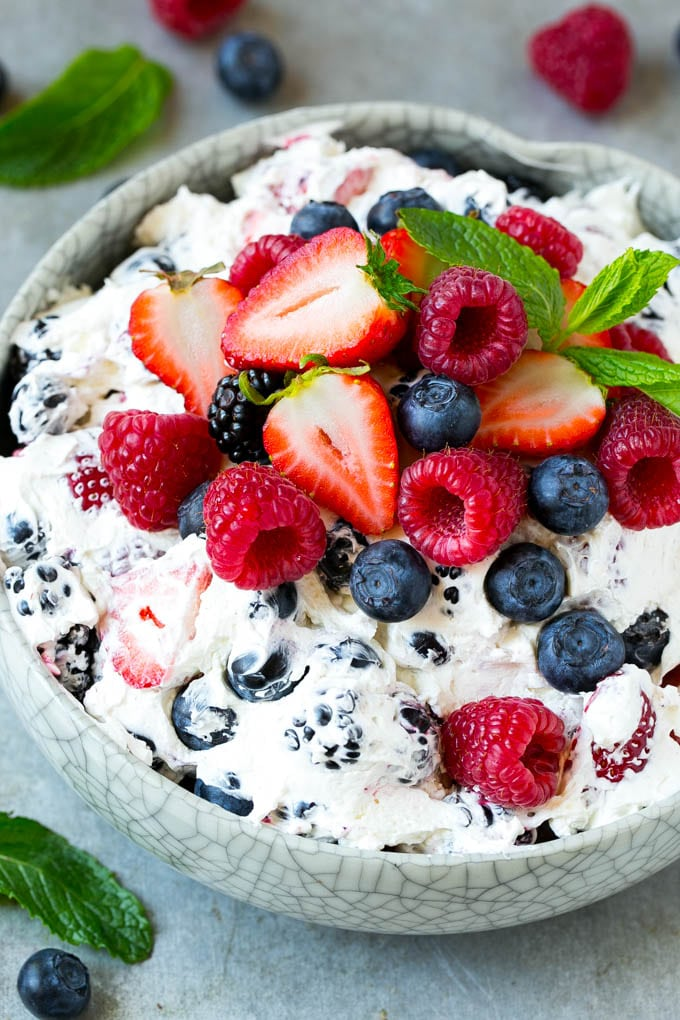 Berry Cheesecake Salad Recipe