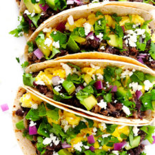 Black Bean Breakfast Tacos Recipe