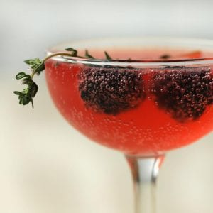 Blackberry & Thyme French 75 Recipe