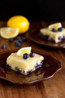 Blueberry Lemon Brownies with White Chocolate Glaze Recipe