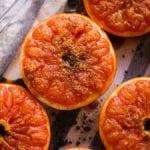broiled grapefruit with honey yogurt and granola recipe