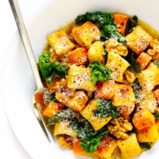 Gnocchi with Butternut Squash and Kale Recipe