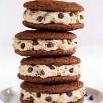 brownie sandwich cookies with chocolate chip cookie dough frosting recipe