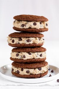 Brownie Cookies with Cookie Dough Frosting Recipe
