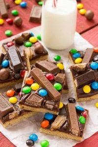 Candy Bar Blondies Recipe