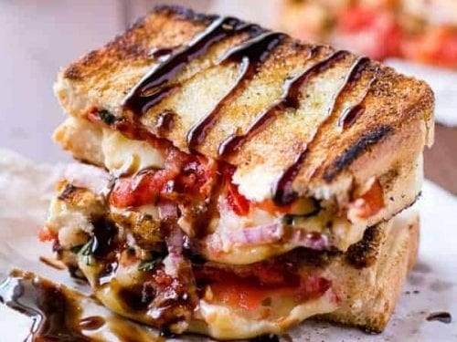 caprese grilled cheese recipe