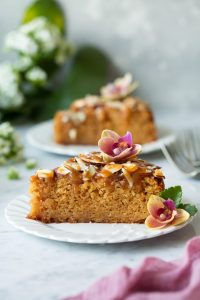 Caramel Soaked Almond Cake Recipe