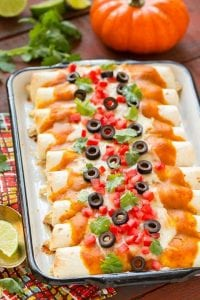 Chicken Enchiladas with Pumpkin Sauce Recipe