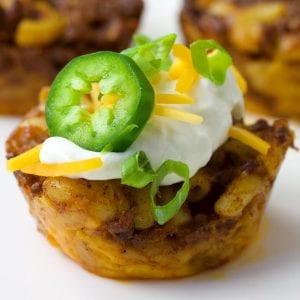 Chili Mac 'N' Cheese Bites Recipe