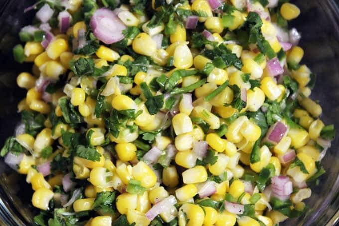 Chipotle Inspired Jalapeno Lime Corn Salad Recipe