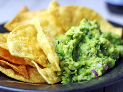 chipotle lime chips and guacamole (copycat) recipe